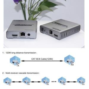 Image 2 - 4K HDMI Extender Adapter IR Sender Zu Empfänger 120m durch KATZE Kabel Netzwerk UTP Buchse, 1TX zu NRXs Für HDTV Kostenloser Versand