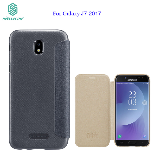 wholesale dealer c9680 6a37b US $12.17 |For Galaxy J7 pro J730F case NILLKIN sparkle PU leather flip  cover view window for Samsung Galaxy J7 2017 5.5inch phone case-in Flip  Cases ...