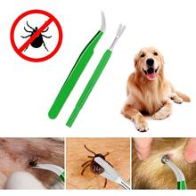 2PCS Tick Removal Tool Stainless Steel Professional Flea Tweezers Cleaning Quickly Safely Remove Mites Ticks