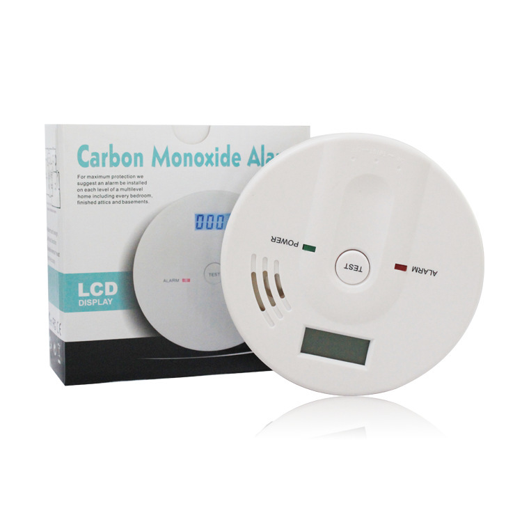 Home Security 85dB CO Gas Sensor Carbon Warning High Sensitive LCD Photoelectric Independent Monoxide Poisoning Alarm Detector