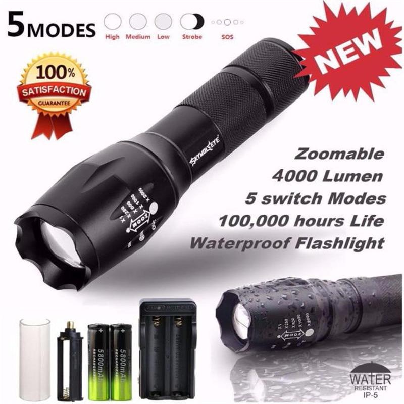 X800 Tactical Bicycle Light font b Flashlight b font font b LED b font Zoom Military