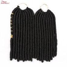 12 дюймов 20 прядей Мягкие дреды Синтетические волосы Вязание крючком Наращивание волос