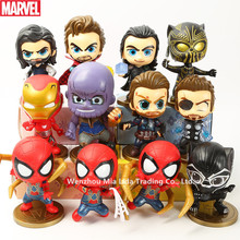Hasbro Marvel Combination Iron Man Spider-Man Panthers Fighting Captain America Decoration Model Doll Toys garbage kit