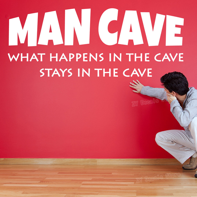 """""""What Happens In The Cave Stays In The Cave"""" Wall Stickers 4"""