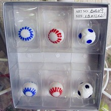 12 PCS hand blown glass art football model 1.8 mm classic home decoration aquarium glass ball suit children's game toys