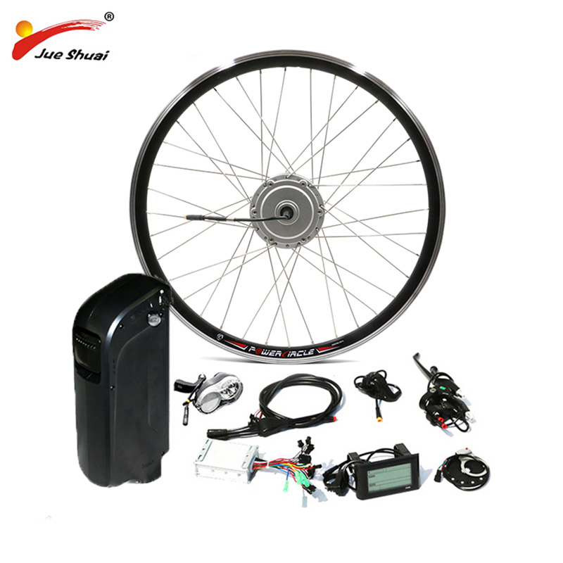 все цены на BAFANG Motor Wheel 48V 500W Electric Bike Conversion Kit with Battery 8FUN BPM Front Hub Motor velo electrique bafang Ebike Kit онлайн