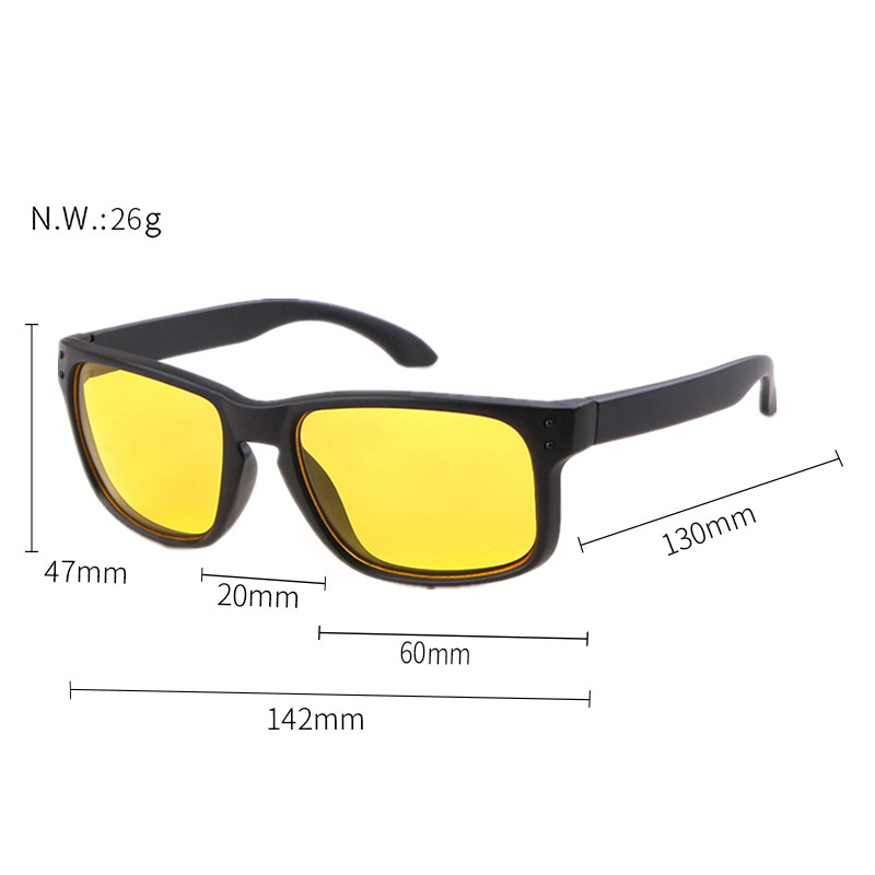 402c0bf1f9 Long Keeper 2018 New Men Polarized Cycling Sunglasses Night Vision Sun  Glasses Unique Frame Safe Outdoor Sports Goggles Eyewear US 8.15   piece   lot 1