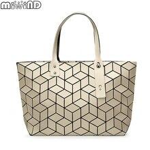 2017 neue Marke Design Mit Logo 3D Matte Geometrische frauen BaoBao tasche PackageWomen der Handtaschen Japanischen stil Damen schulter tasche