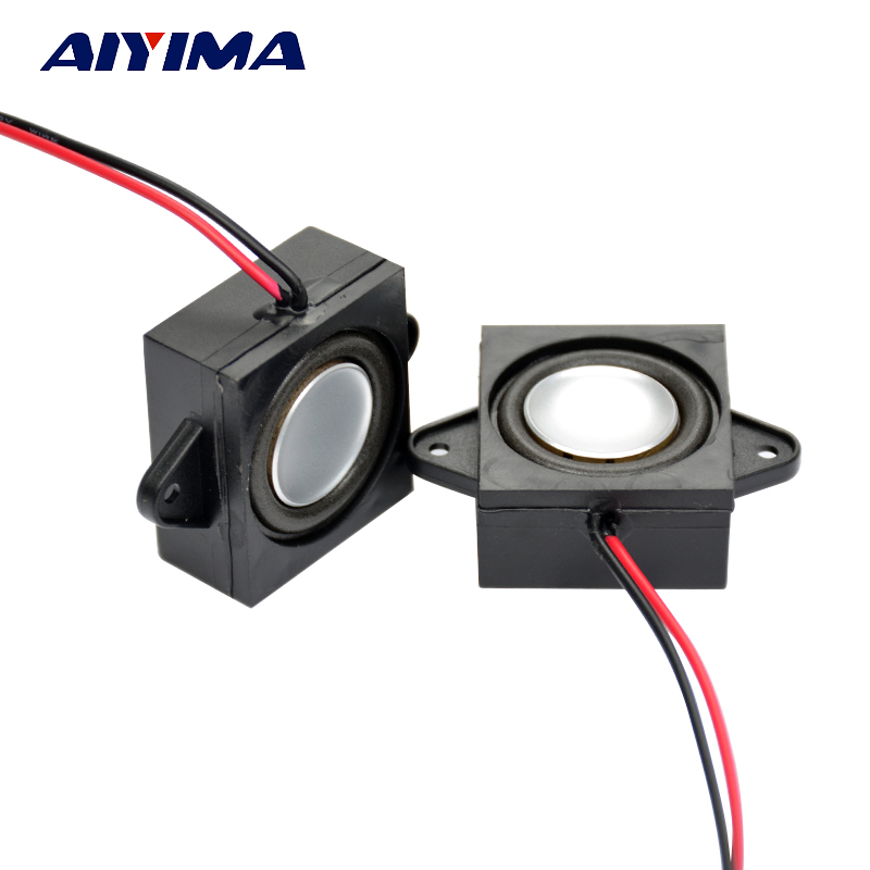 AIYIMA 2Pcs Altavoces portátiles de audio de rango completo 8Ohm 3W Single Tone Speaker Mini Stero Advertising Altavoces para computadora
