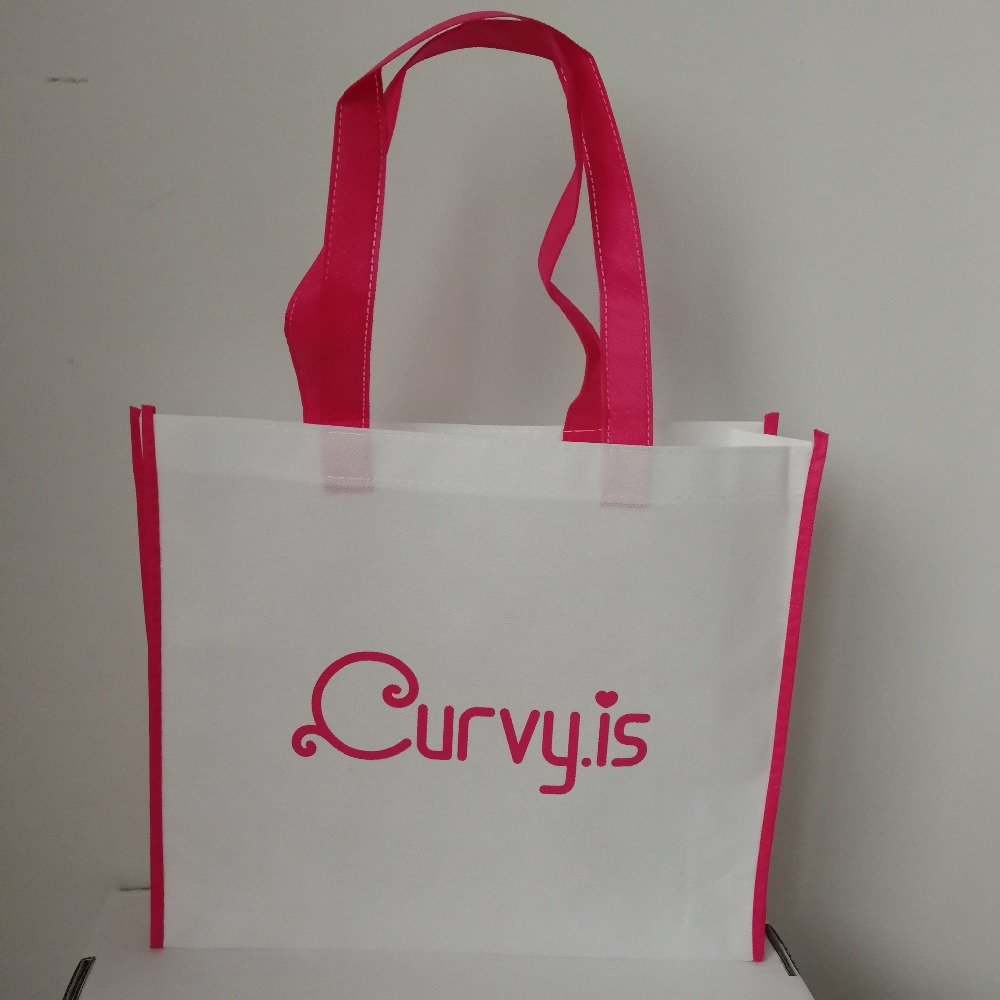 1000pcs lot custom your logo gift reusable 35x30x8cm promotion handle non woven cloth packaging bags for