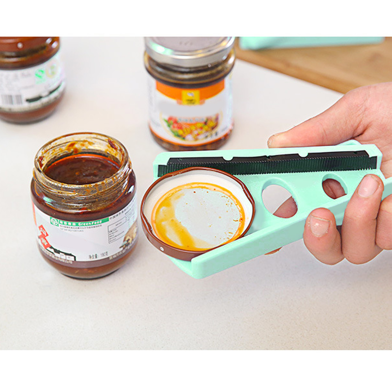 Behokic Anti slip Jar Bottle Can Lid Cap Opener abridor de lata Easy Operate Grip Three Slots for Screw Style Cap Lid