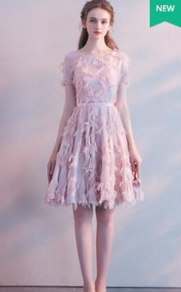 630b93d89a6ba US $68.0 20% OFF New Short Prom Dress Tassel Sleeve V neck Simple Elegant  Fromal Evening Party Graduation Birthday Party Vestidos Robe De Soiree-in  ...