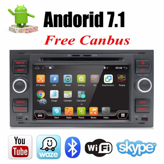Bosion Car Multimedia Player Android 7.1.1 GPS Autoradio 2 Din 7 Inch For Ford/Mondeo/Focus/Transit/C-MAX/S-MAX/Fiesta 2GB RAM
