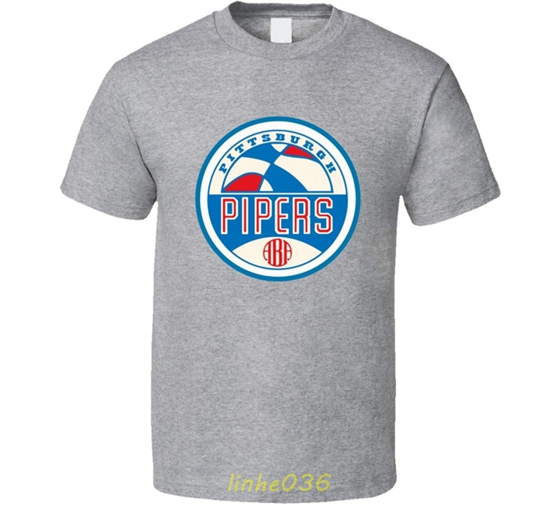 Gildan ABA Pittsburgh Pipers Retro Basketballer T Shirt