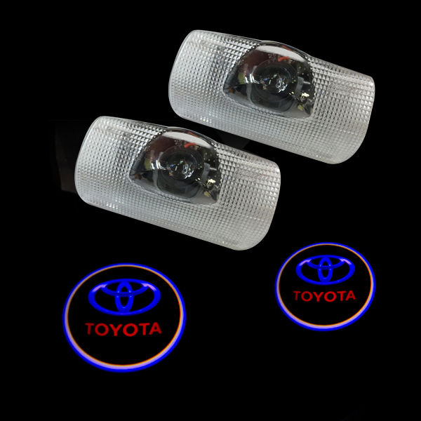 LED Door Warning Light With Logo Projector For Toyota prius tundra corolla prado sequoia highlander Reiz Alphard Sienna 2x led car door welcome light for toyota corolla emblem logo projector lamp for toyota corolla spoiler estate levin coupe saloon