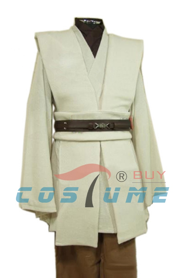 Costume adulto Star Wars Obi Wan Kenobi Costume Jedi Costume Cosplay Mantello Costumi di Halloween Per uomini adulti