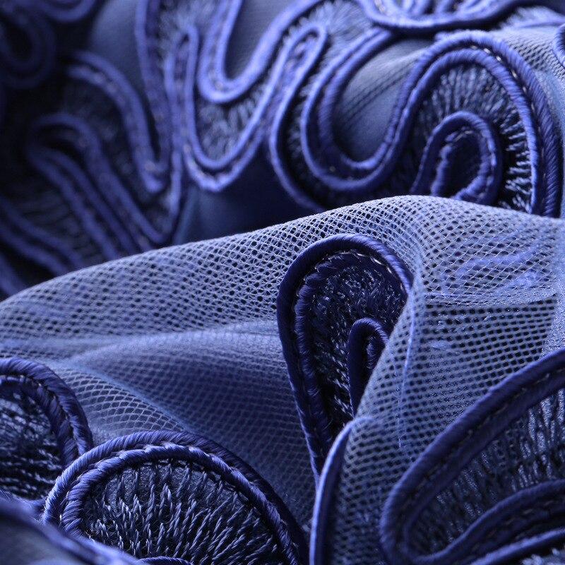 Parti Broderie De Courtes Femmes Robe pink Foncé Blue Allover Rose Feta Appliques cou Bleu À Xxxxl D'o Manches Événements Moulante Robes xUw4z