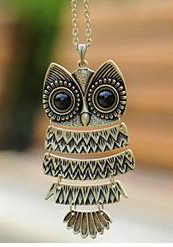 2014 Promotion Special Offer Romantic Women Chains Necklaces Crystal Animal Jewelry Accessories Large Fashion Owl Long Necklace