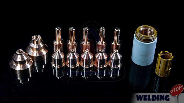 Welding Stop trail package Plasma consumable kits Ref 120928 120925 120930 for PMX1250 plasma cutter torch