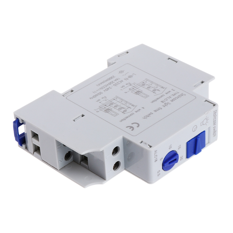Durable 16A DIN Rail Staircase Electronic Relay Switch Time Timer Fr Corridor AF L15