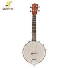 "New 23"" Sapele Nylon 4 Strings Concert Banjo Ukulele Uke Bass Guitar Guitarra For Musical Stringed Instruments Lovers Gifts"