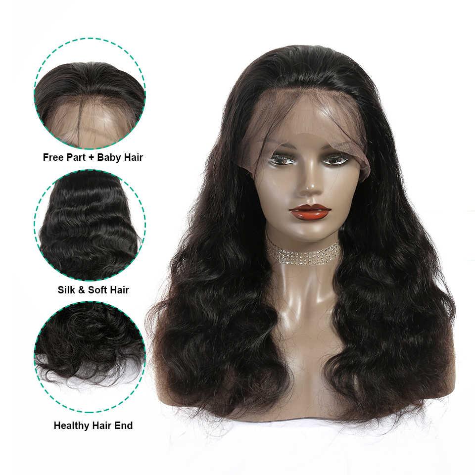 Ali Grace Full Lace Menselijk Haar Pruiken Met Baby Haar 130% 150% Dichtheid Pre Geplukt Braziliaanse Body Wave Full Lace pruik Remy Haar