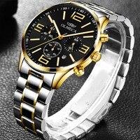 Mens Relógios Masculino Relógio de Negócios de Luxo Da Marca Dos Homens de Quartzo Esporte Militar Relógio À Prova D' Água Relógio de Pulso Relogio masculino|Relógios de quartzo| |  -