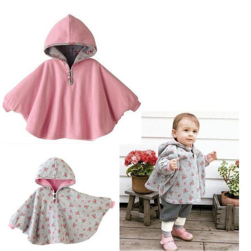 New 2017 Fashion Combi Baby Coats boys Girls Smocks Outwear Fleece cloak Jumpers mantle Childrens clothing Poncho Cape