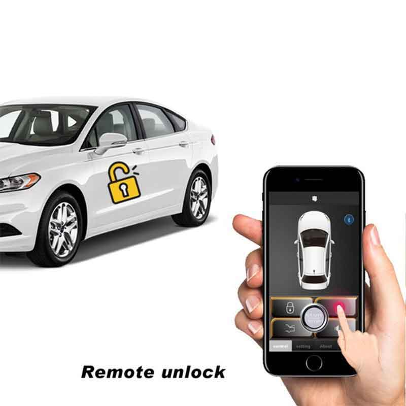 Car alarm Central locking remote Automatic Trunk Opening Central locking system universal Mobile phone Car security <font><b>MP686</b></font> image