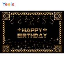 Yeele Birthday Decor Photocall Party Retro Glitters Photography Backdrops Personalized Photographic Backgrounds For Photo Studio