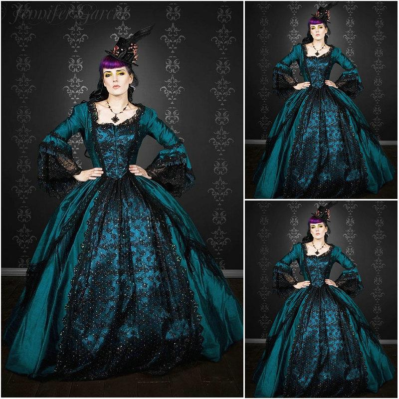 US $202 3 15% OFF|History!Customer made 1800S Victorian dress 1860s Civil  war Dress Theater Reenactor Costume Renaissance Dress V 427 on