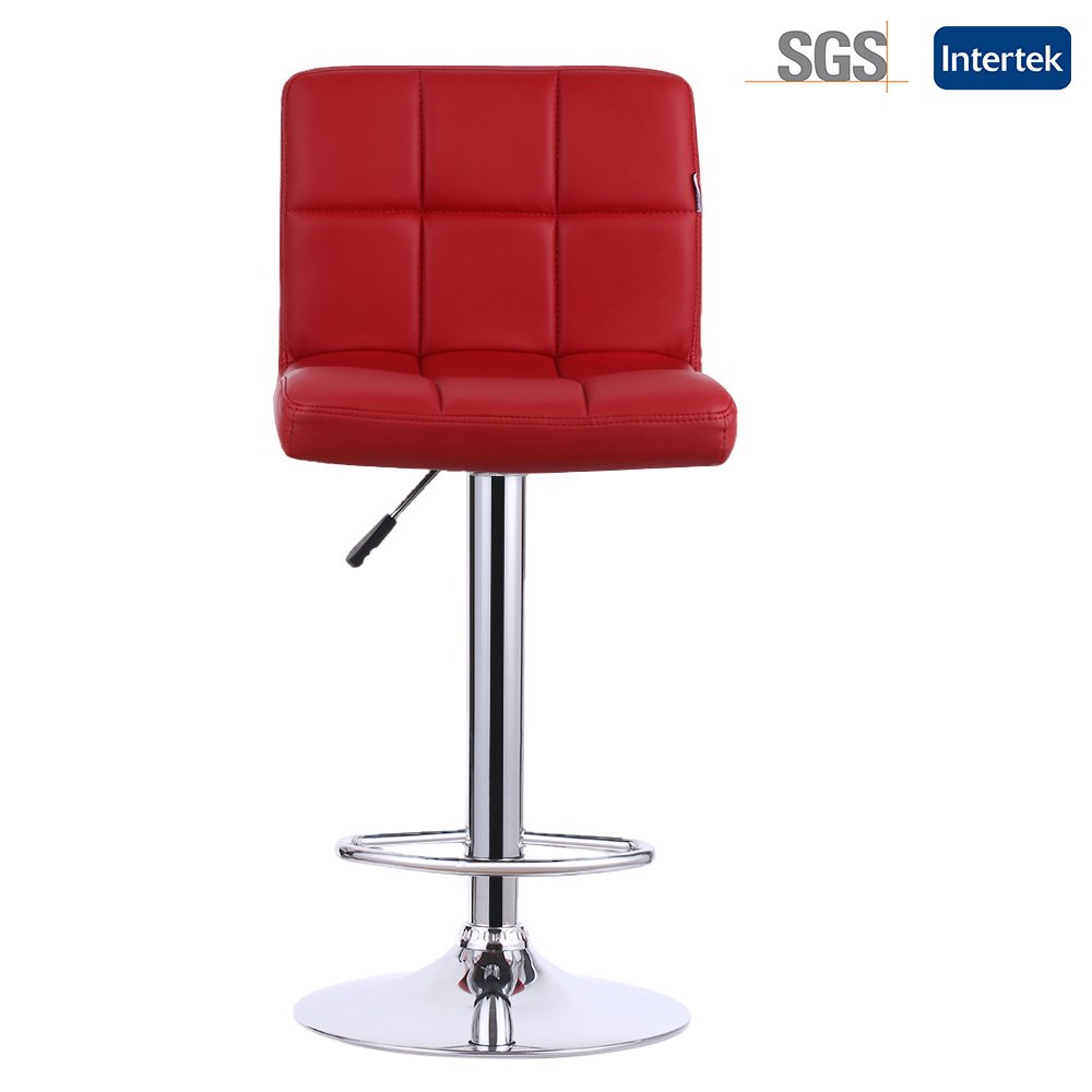 Red Leather Swivel Chair Us 99 12 25 Off Ikayaa 2pcs Set Red Black Pu Leather Swivel Bar Chairs Height Adjustable Pneumatic Heavy Duty Counter Pub Chair Barstools In Bar