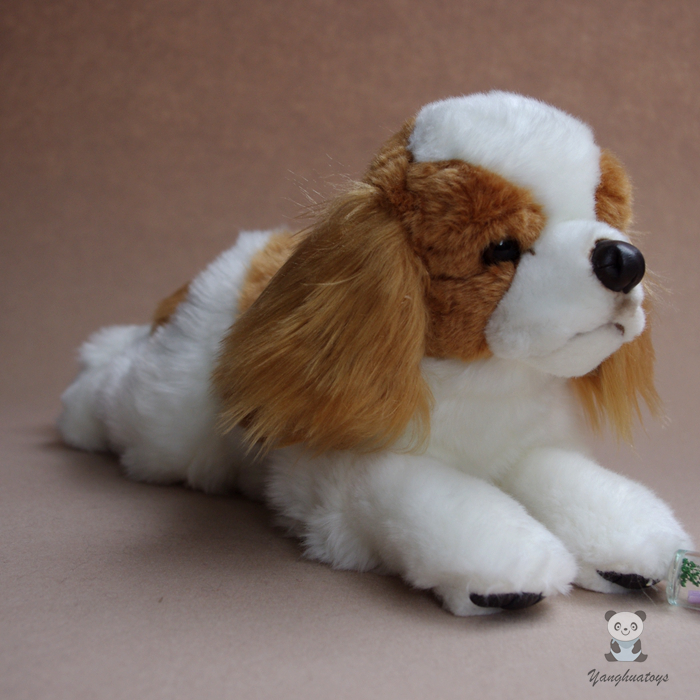 Big Toy Simulation Dogs Doll  Plush Cavalier King Charles Spaniel Stuffed Animal Toys Children Gift Pillow stuffed animal 115 cm plush simulation lying tiger toy doll great gift w114