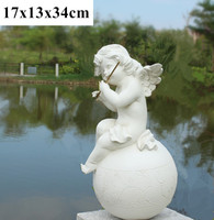 village garden ornaments retro decorative angel figurines statues angel Cupid angel figurines resin crafts wedding decorations
