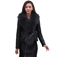 100% Sheepskin Coat Genuine Leather Down Coat Fox Fur Collar Winter Coat Women Clothes 2018 Korean Female Elegant Jacket ZT675