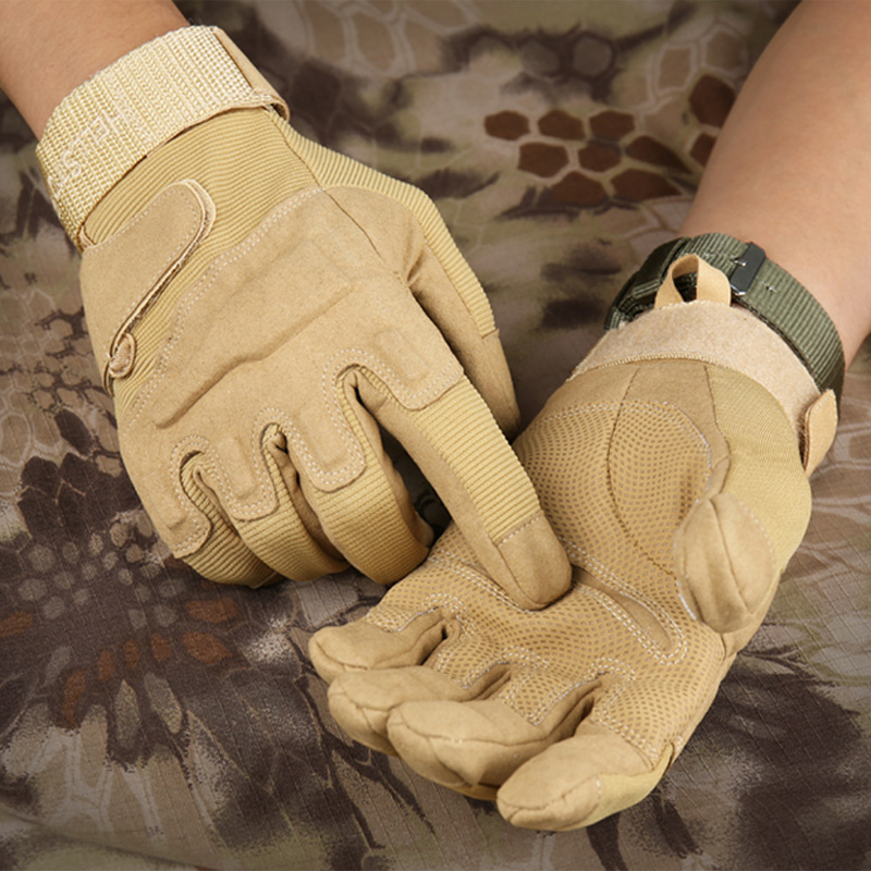 Men's Army Gloves Full Finger Military Police Safety Gloves Speed Dry Anti-Slippery Leather Tactical Gloves