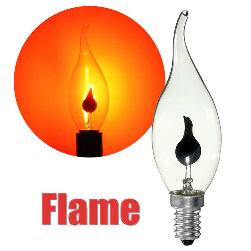 LumiParty 3W E14 Vintage LED Light Bulb Fire Flickering Flame ...