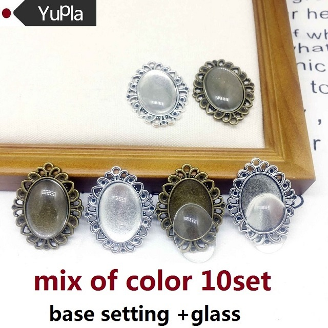 antiqued silver bezel resin frame silver setting photo jewelry 10 antiqued silver pendant frames cameo necklace fancy silver bezel