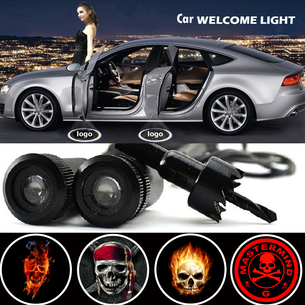 2 X Car Door Light Laser Welcome Ghost Shadow Projector