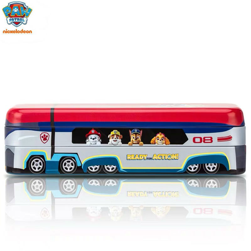 Paw Patrol Toy Organizer Bin Cubby Kids Child Storage Box: Genuine Paw Patrol BUS TOY Student CUTE Pencil Box Doll
