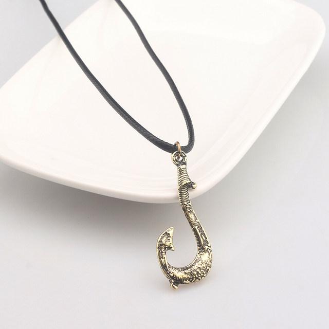 Online Shop Maori Hawaiian Maui Fish Hook Necklaces Pendants Moana