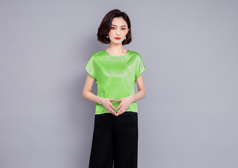 2018 nueva moda ropa de verano mujeres sólido suelto de manga corta ... 28144a4c204