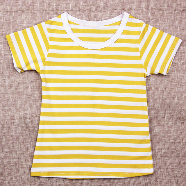 90705ed940f1a Sweet Candy Color Short Sleeve Girls T-shirt Hot Summer Cotton Striped t  shirt Girl Tops Kids Children Clothes Clothing