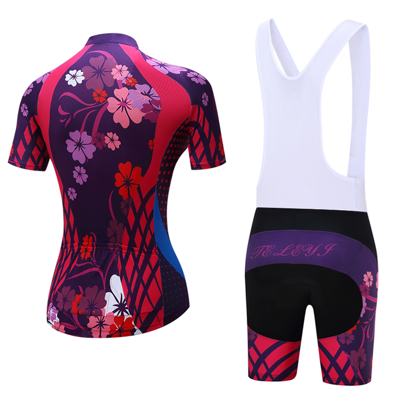 teleyi Women Cycling Clothing Breathable Mountian Bicycle Clothes Ropa Ciclismo MTB Bike Clothes Cycling Jersey Sets
