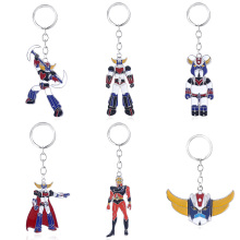 Mazinger Z Keychain UFO Robot Grendizer Logo Key Chain for Men Car Keyring Jewelry Gift