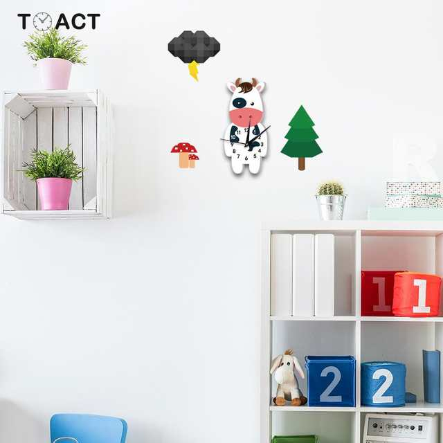 7 diy practical and decorative bathroom ideas.htm online shop cow wall clock in the kids room clocks for children  cow wall clock in the kids room clocks
