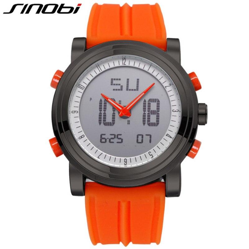 SINOBI Watches Digital Chronograph Quartz Men's Fashion Brands Relogio Top Masculino