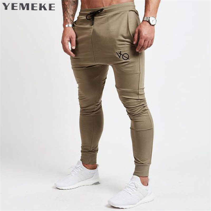 YEMEKE 2017 Autumn Winter New Gyms Pants Men Joggers Casual Pants Brand Trousers Sporting Bodybuilding Sweatpants joggers 2Color