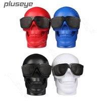 Halloween Cartoon Gift Plastic Metallic Skull Shape Wireless Bluetooth Speaker Stereo Bass Portable Speakers For Mobile