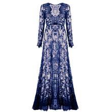 Summer Sexy See Through Dresses Women Floor-Length Black White Lace Dress Adjust Waist Floral Vestido